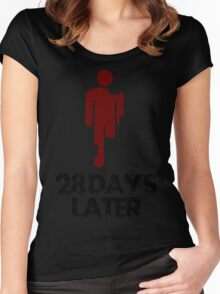 28 days later Funny Geek Nerd Women's Fitted Scoop T-Shirt