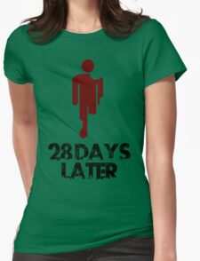 28 days later Funny Geek Nerd Womens Fitted T-Shirt