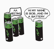 Aa battery meeting Funny Geek Nerd by radmadhi