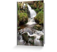 Dunsop Bridge Waterfall 2 Greeting Card