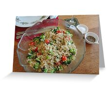 Quinoa Salad Greeting Card
