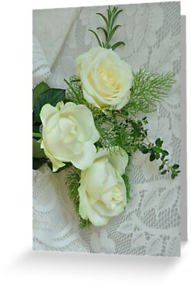 Three roses and three herbs by Heather Thorsen