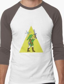 Link and Navi - TRIFORCE Men's Baseball ¾ T-Shirt