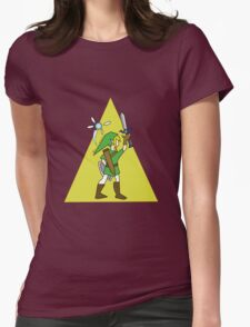 Link and Navi - TRIFORCE Womens Fitted T-Shirt