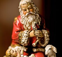 Kneeling Santa by Bonnie T.  Barry