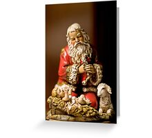 Kneeling Santa Greeting Card