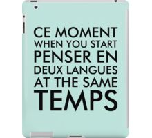 Thinking in French and English iPad Case/Skin