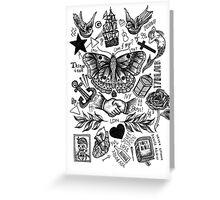 Harry Styles Tattoos Greeting Card