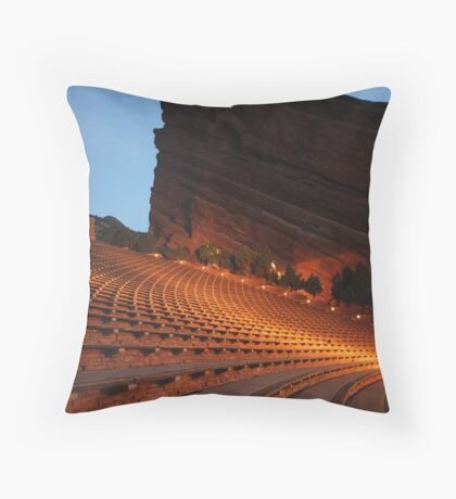 Red Rocks Amphitheater Morrison, Colorado Throw Pillow