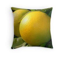 orange tree with fruits Throw Pillow