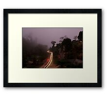 Guest house view - Ella, Sri Lanka Framed Print
