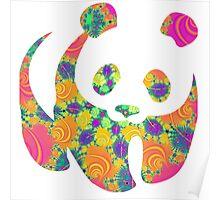 Psychedelic panda Poster