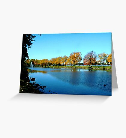 Boston Park, USA  Greeting Card