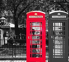 London Phone Booth by CRGArtDesign