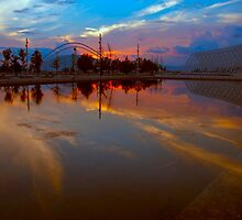 Reflected Sunset by GeorgeGrivas