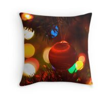 Christmas Bokeh  Throw Pillow