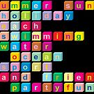 Colorful cube letters by RosiLorz