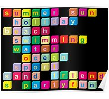Colorful cube letters Poster