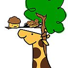 Giraffe Likes Muffins by James Gonzalez