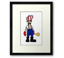 service man Framed Print