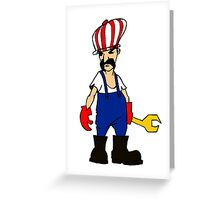 service man Greeting Card