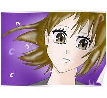 Cry Manga Girl Poster