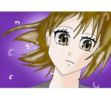 Cry Manga Girl Photographic Print