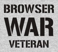BROWSER WAR VETERAN - Black on Grey Web Developer Shirt by ramiro