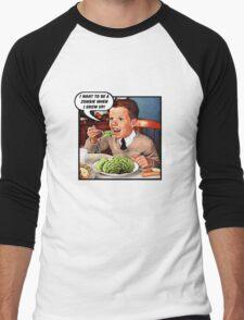 Little Tommy Always Eats His Greens! Men's Baseball ¾ T-Shirt