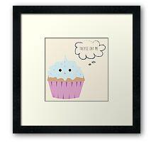 Sad cupcake Framed Print