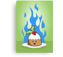 Flaming Pudding Canvas Print