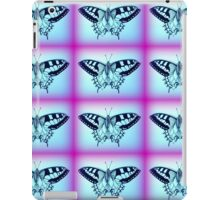 purple and blue butterflies iPad Case/Skin
