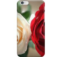 Red And Cream iPhone Case/Skin