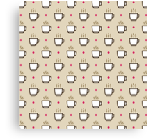 Coffee Pattern - Drinks Series Canvas Print
