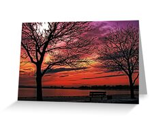 Sunset over South Boston Greeting Card