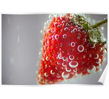 Strawberry Bubbles Poster