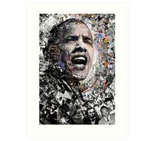 """I Am Not A Perfect Man"", Obama Civil Rights and Protest Collage Art Print"
