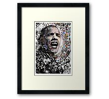 """I Am Not A Perfect Man"", Obama Civil Rights and Protest Collage Framed Print"