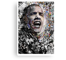 """""""I Am Not A Perfect Man"""", Obama Civil Rights and Protest Collage Canvas Print"""