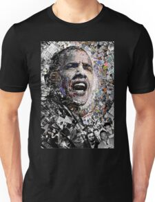 """""""I Am Not A Perfect Man"""", Obama Civil Rights and Protest Collage Unisex T-Shirt"""