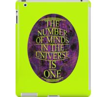 ONE is the number iPad Case/Skin