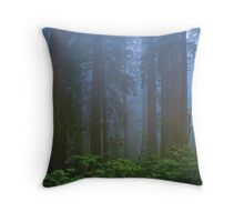 REDWOODS, FOG Throw Pillow