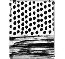 Zoe - Black and white dots, stripes, painted, painterly, hand-drawn, bw, monochrome trendy design iPad Case/Skin