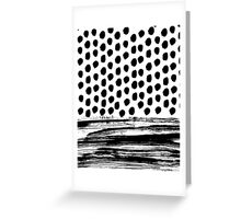 Zoe - Black and white dots, stripes, painted, painterly, hand-drawn, bw, monochrome trendy design Greeting Card