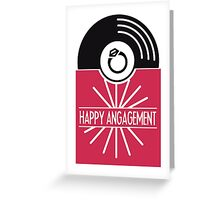 Happy engagement awesome vinyl record greeting card Greeting Card