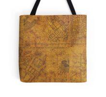 Distressed Maps: Marauders Map Inside Tote Bag