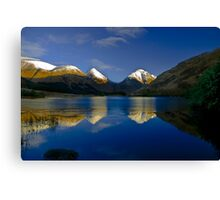Glen Etive reflections Canvas Print