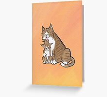 Mother Cat Greeting Card