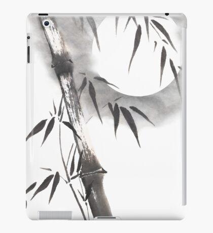 Moon blade bamboo sumi-e painting  iPad Case/Skin