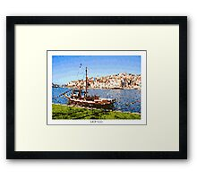 Pixel Art Cities: Porto Framed Print
